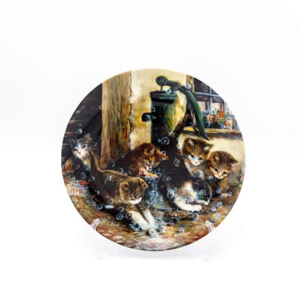 Котята и мыльные пузыри