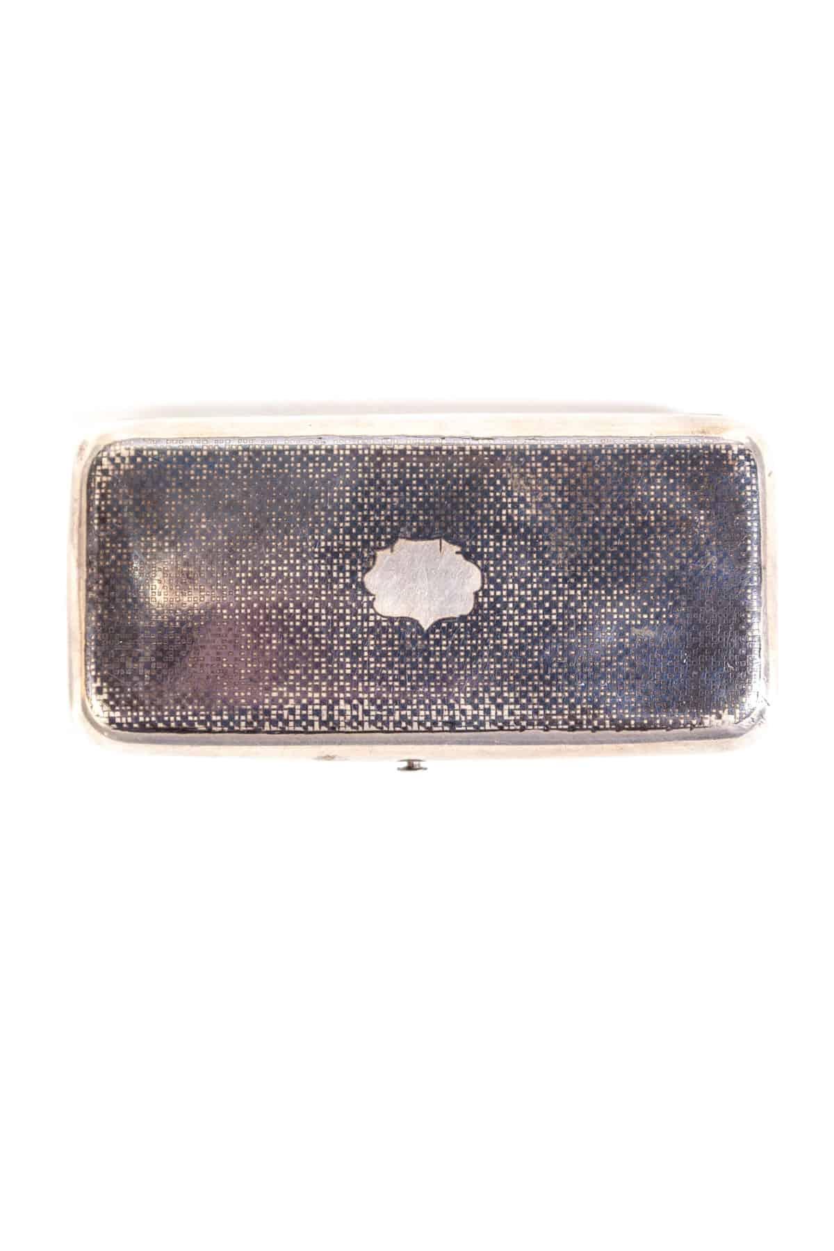 Серебряная портсигар