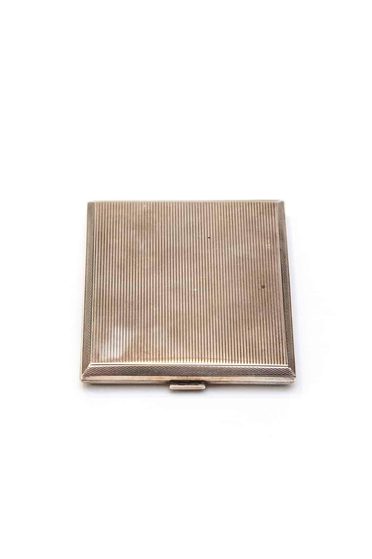 Английский серебряный портсигар