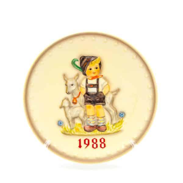 farforovaya tarelka malchik pastuh s yagnyonkom 1988