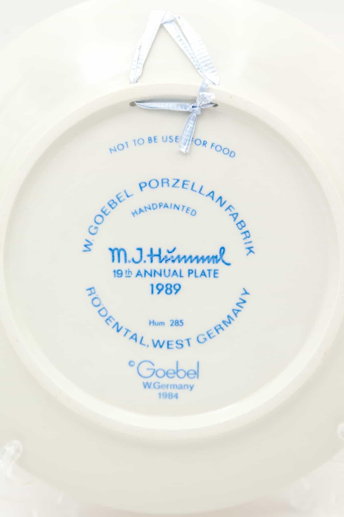 kleymo farforovaya tarelka malchik s porosyatami 1989