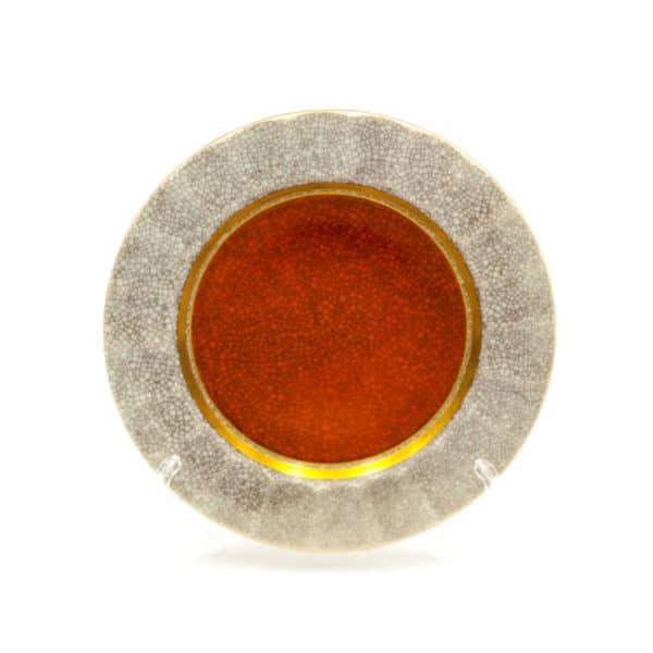 farforovaya tarelka s imitaciey krakelura