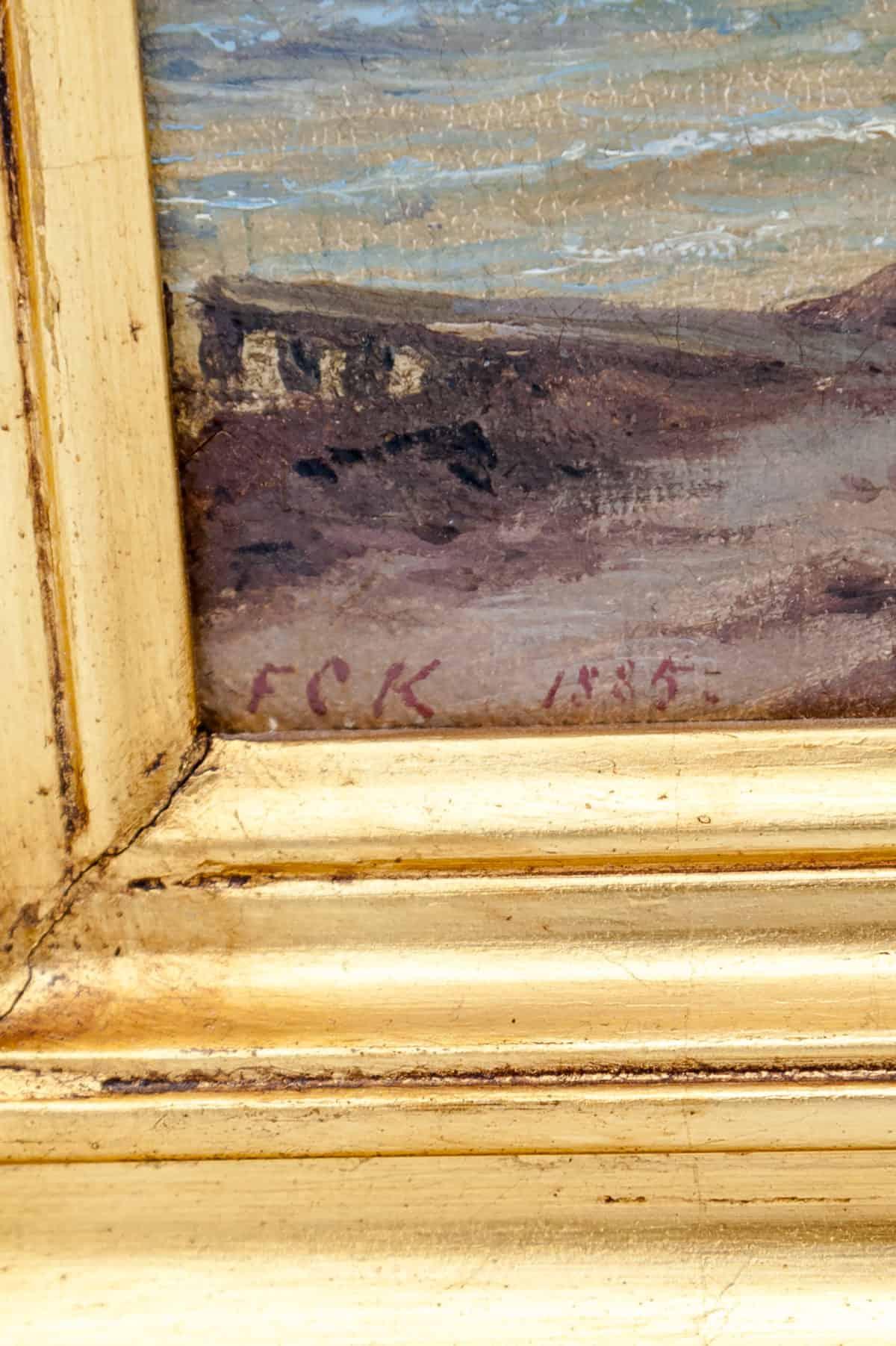 kartina letniy den v hyolbeke na beregu ehressuna