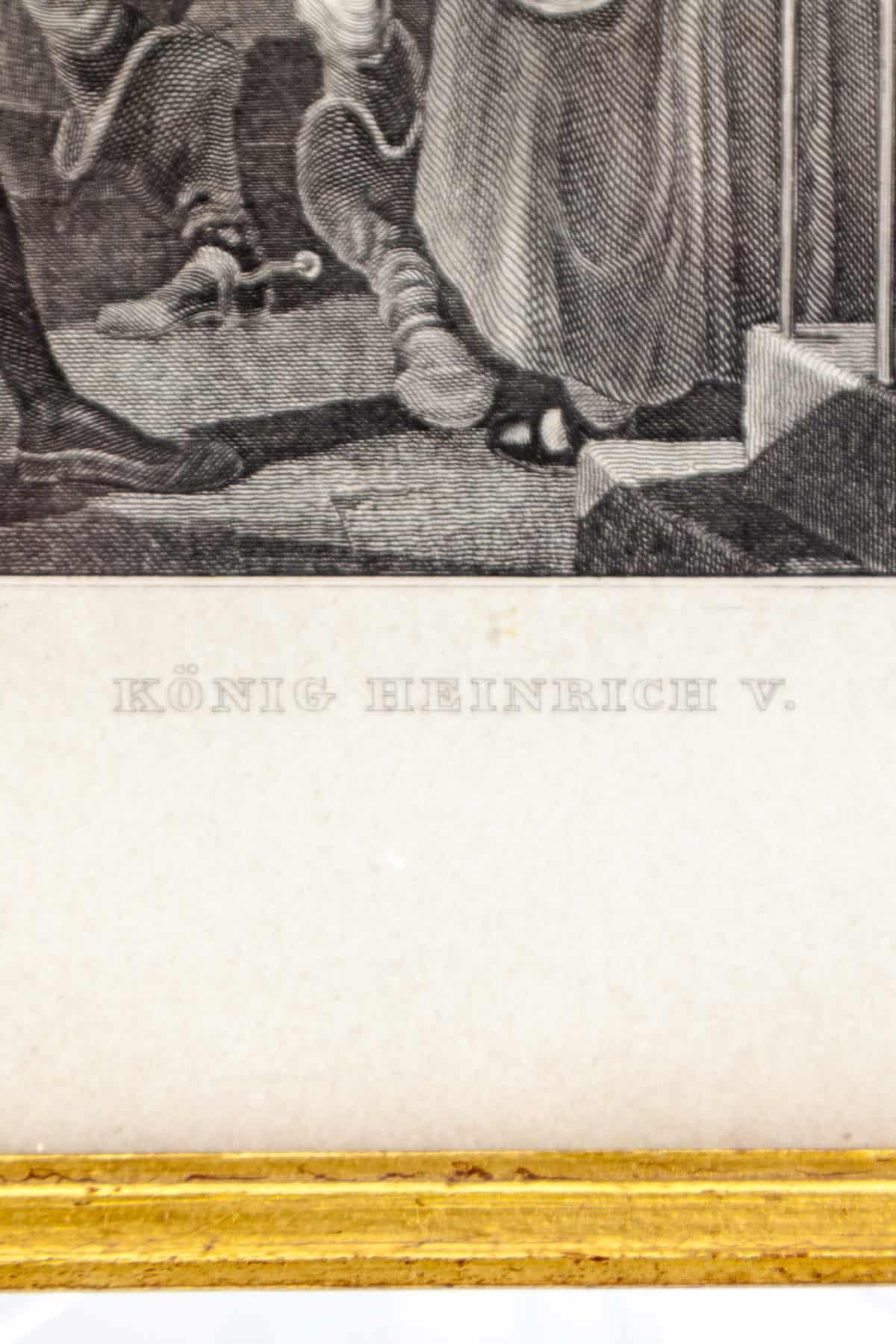 starinnaya gravyura korol genrih v