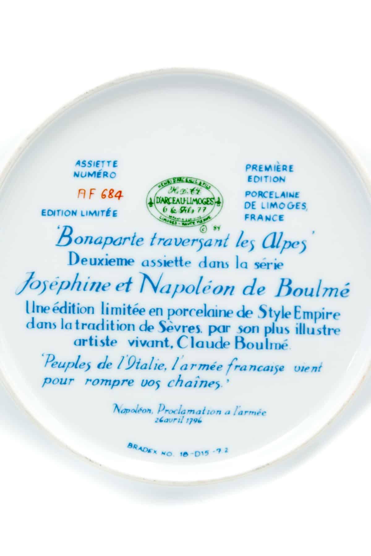 tarelka perehod napoleona cherez Alpy