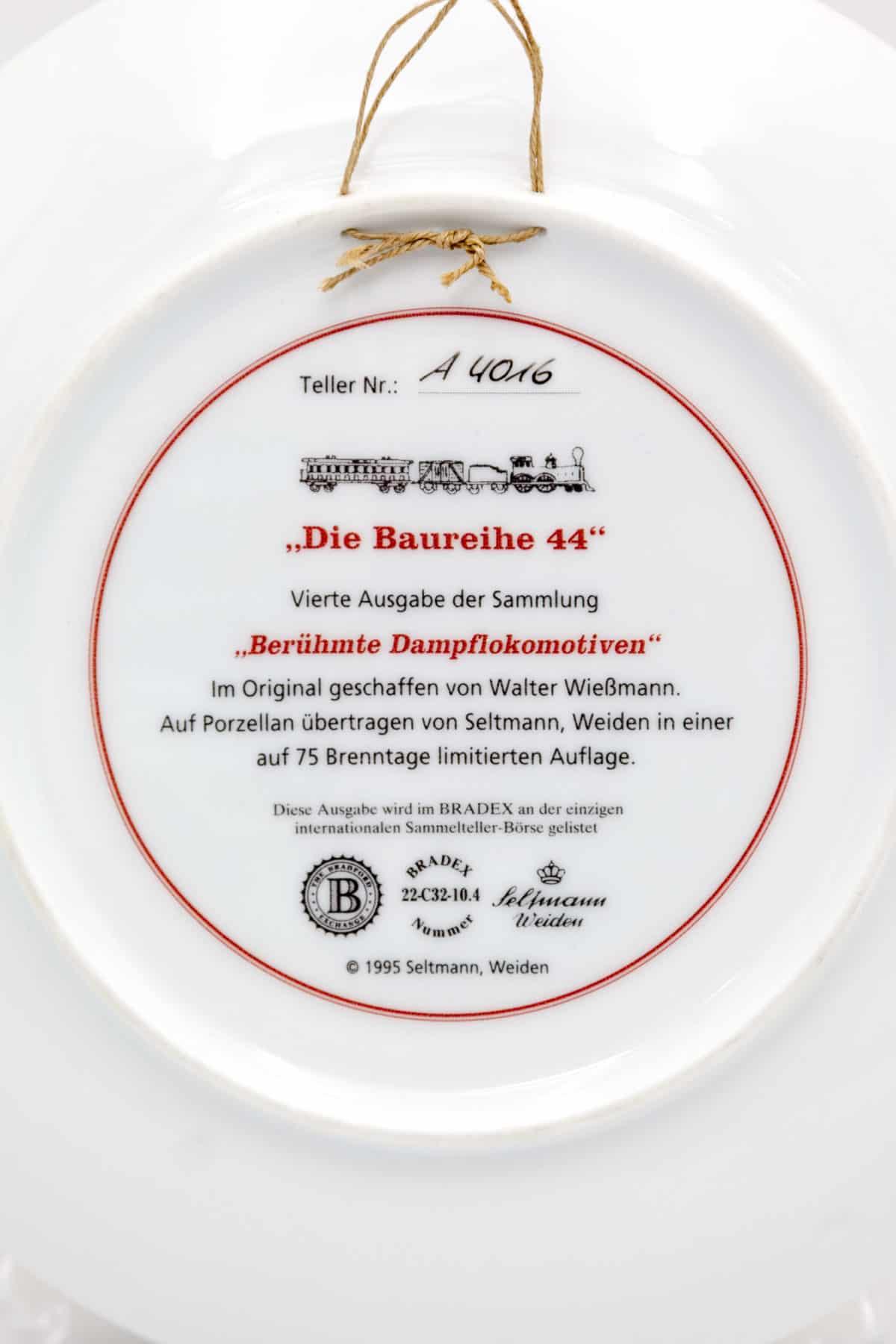 farforovaya tarelka gruzovoy parovoz seriya 44