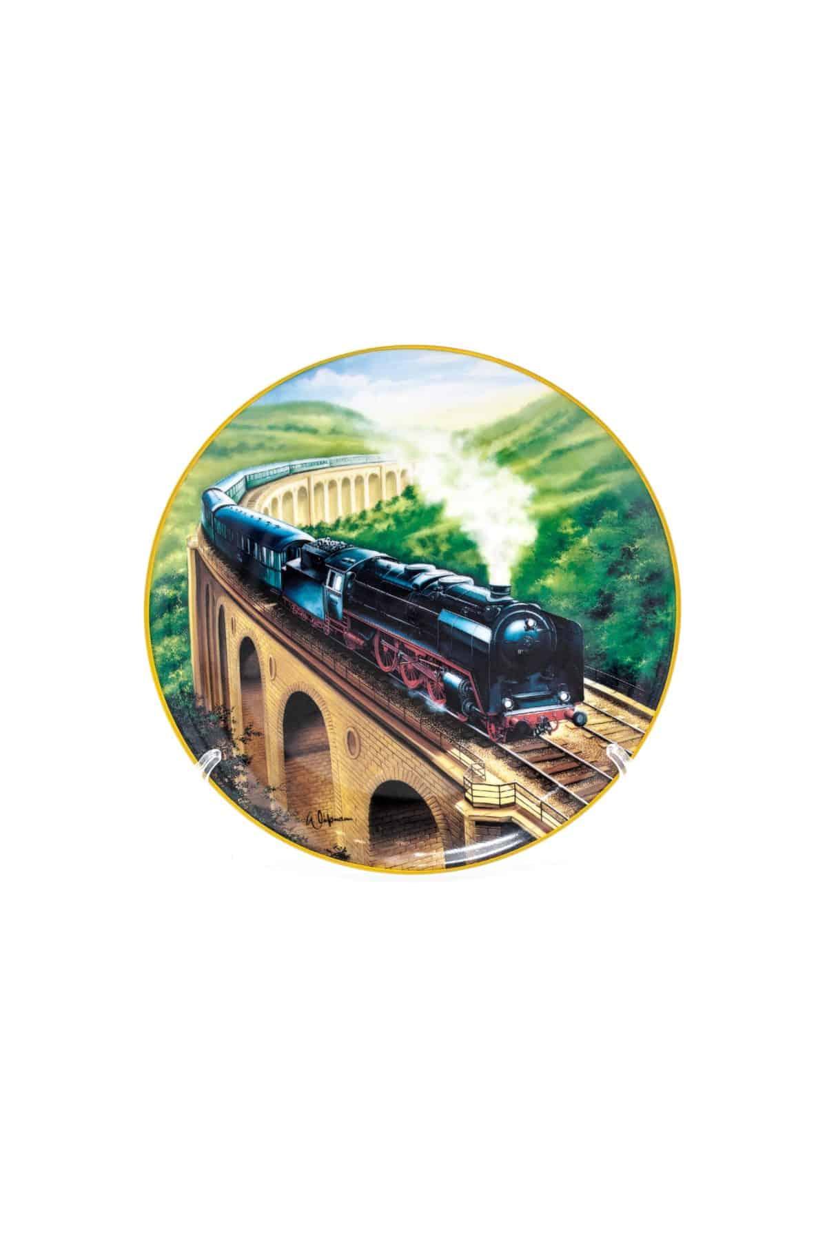 farforovaya tarelka lokomotiv seriya 01